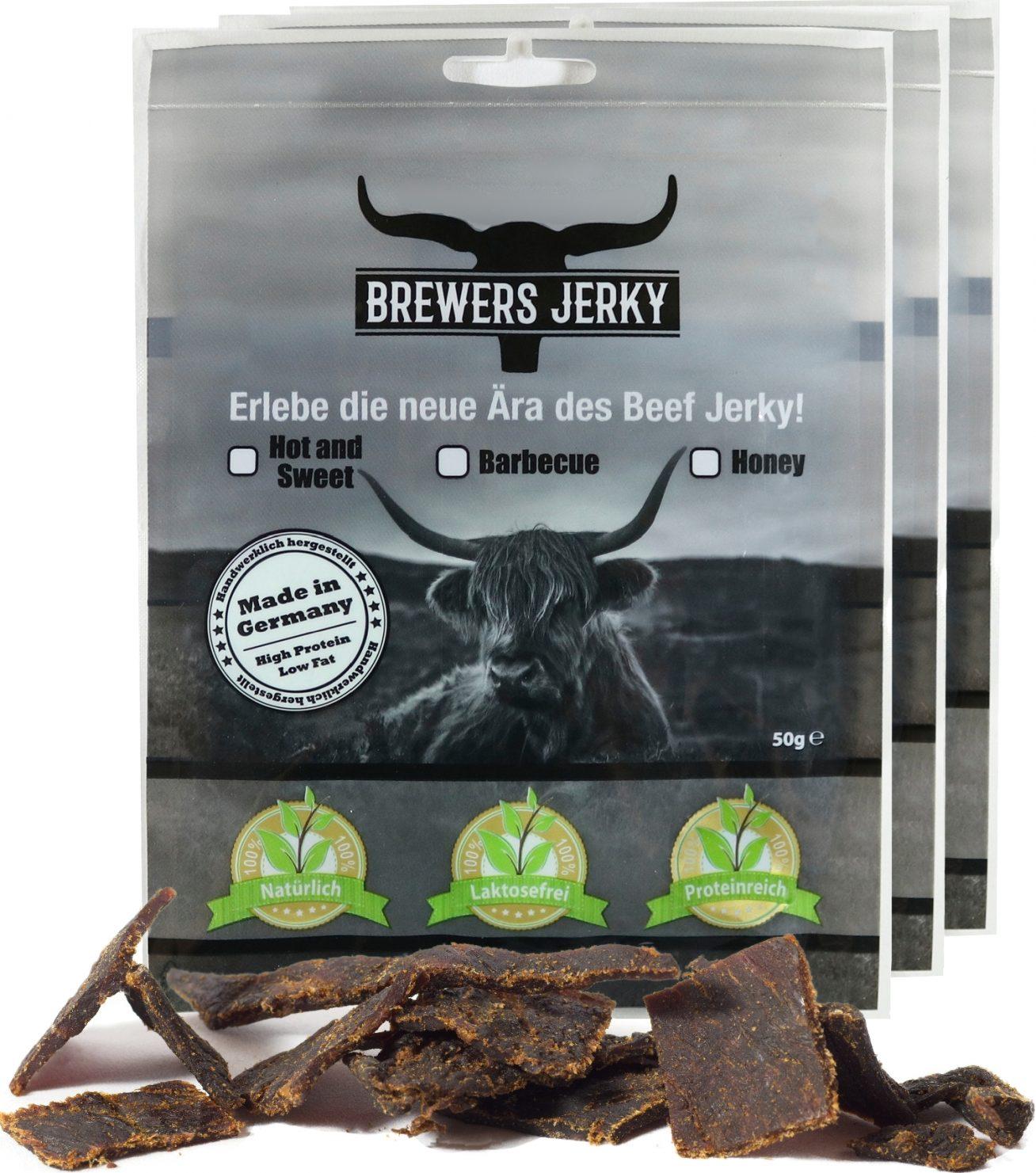 Leckeres Beef Jerky mit BBQ Geschmack